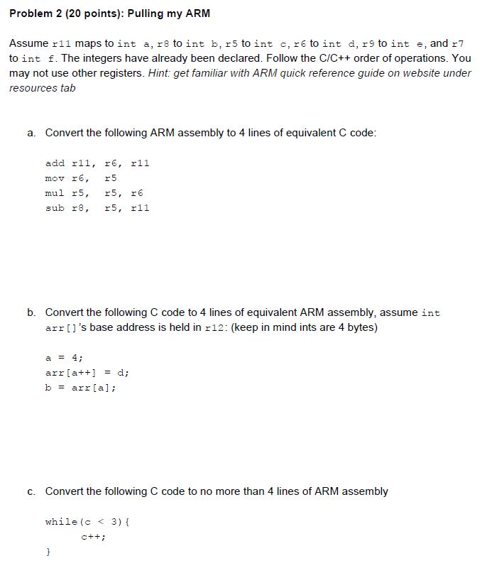 Solved: Assume R11 Maps To Int A, R8 To Int B, R5 To Int C