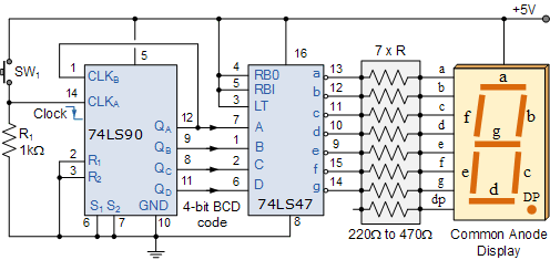 Solved: The Following Circuit Diagram Is To Count Light Pu ...