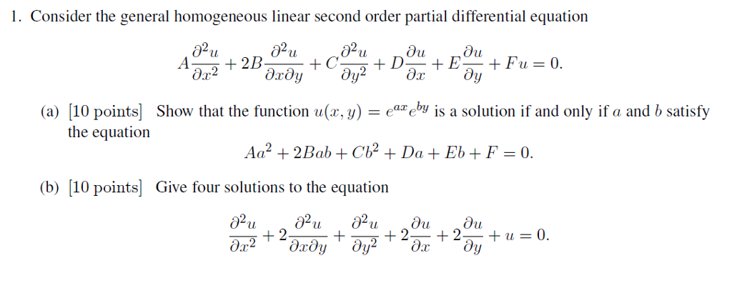 Solved: Consider The General Homogeneous Linear Second Ord