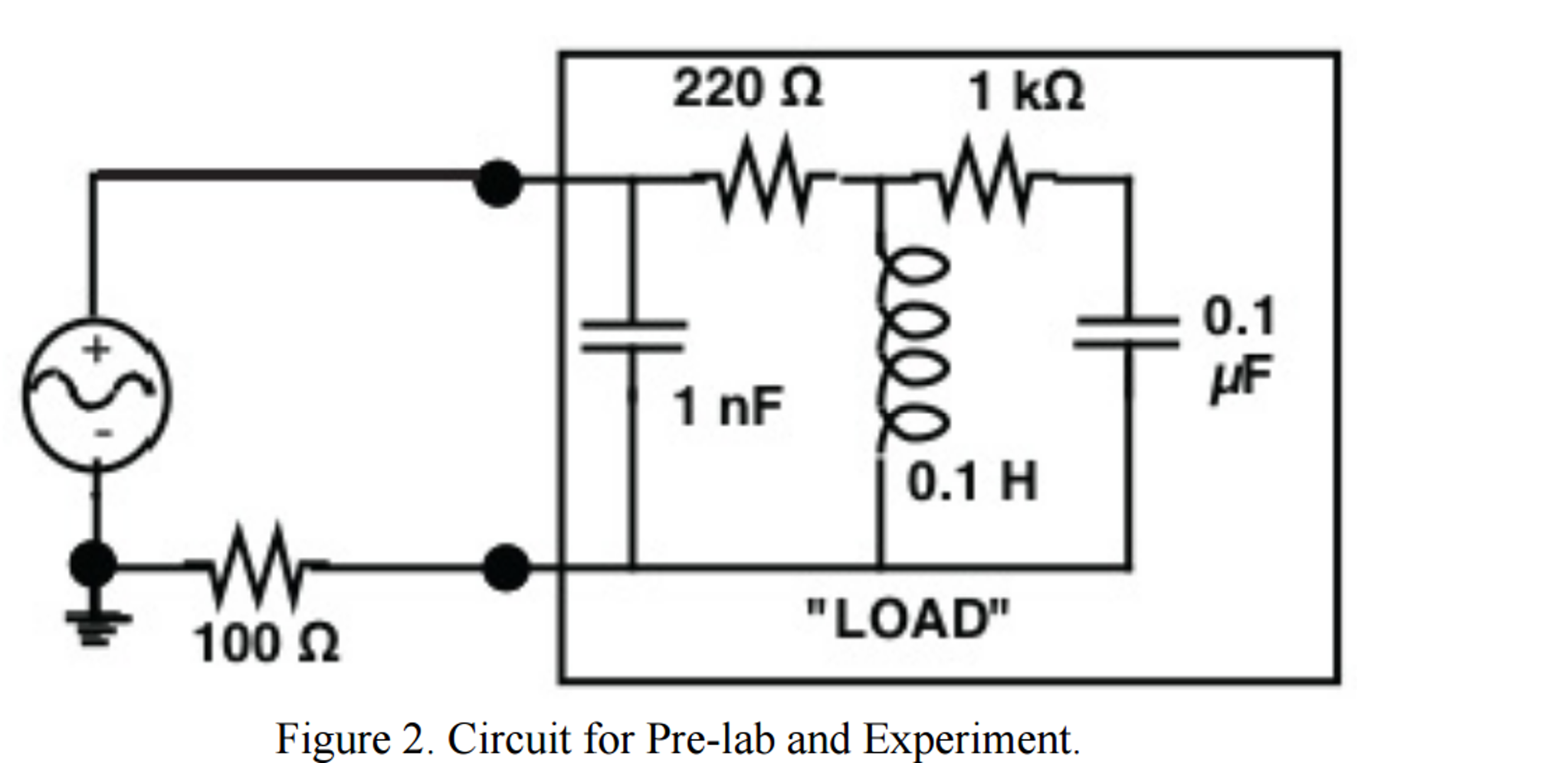 Solved For The Circuit Of Figure 2 Calculate Impedanc 1khz Sinewave Generator