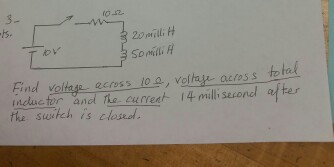 Find voltage across 10 ohm, voltage across total