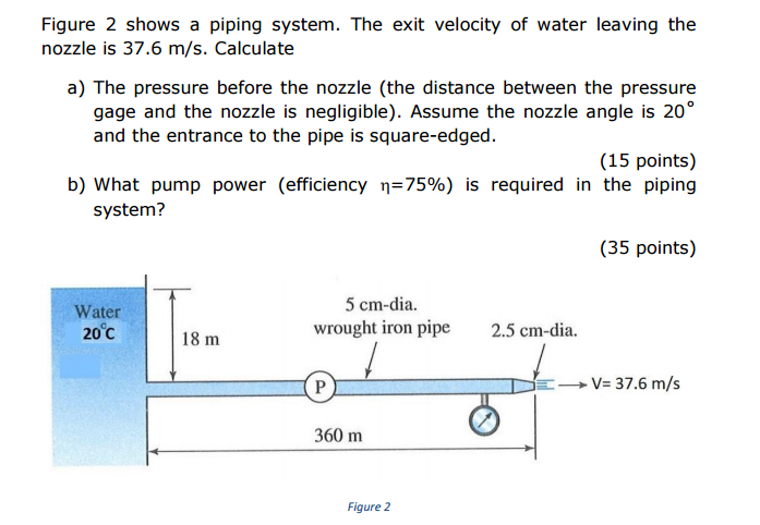 how to calculate velocity change in pipe diameter