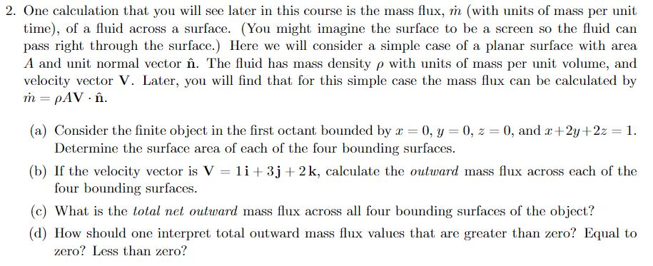 Solved: One Calculation That You Will See Later In This Co