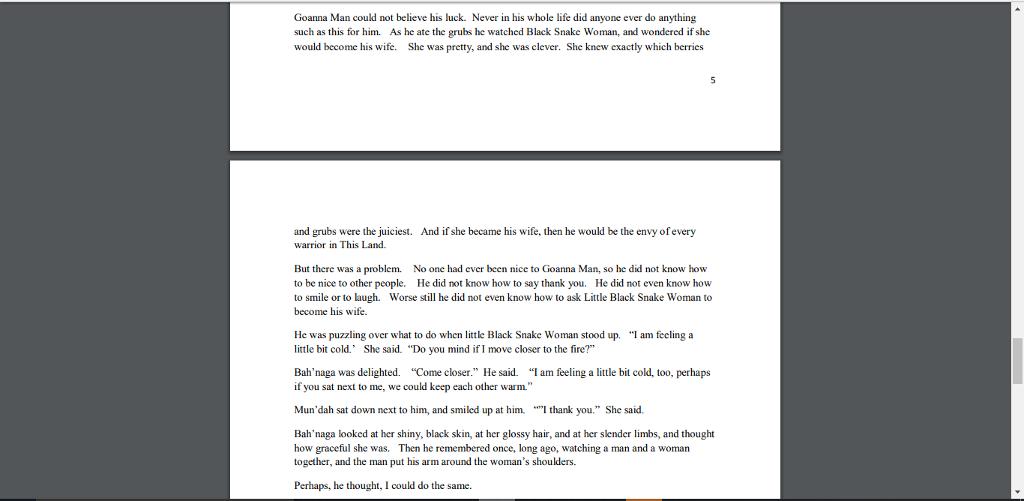 how to write a nice story