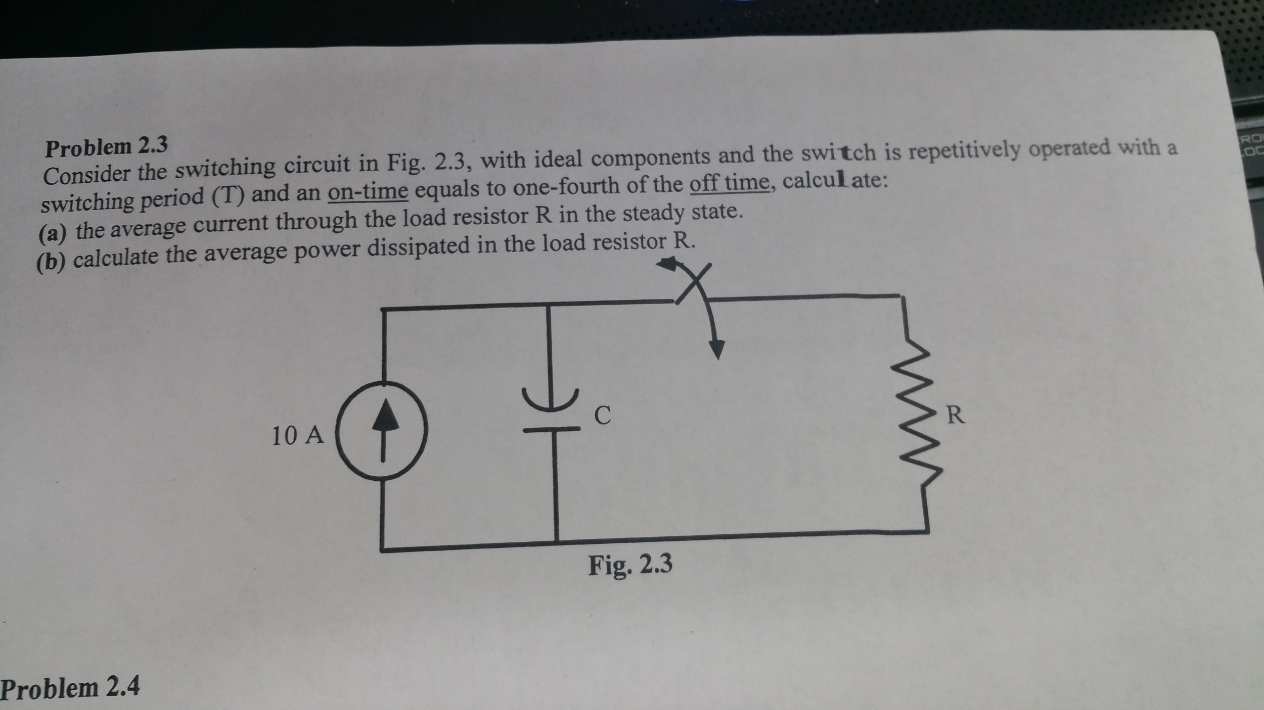 Solved: Consider The Switching Circuit In Fig. 2.3, With I ...