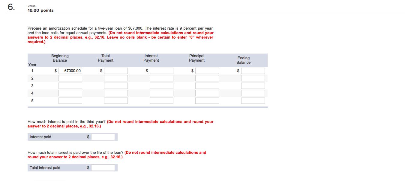 interest amortization schedule