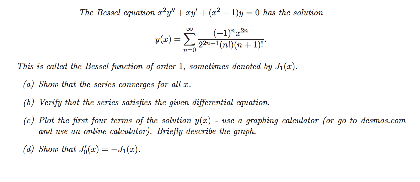 Solved: The Bessel Equation X^2 Y\