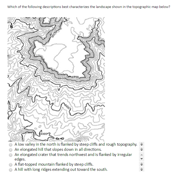 Hill Topographic Map.Solved Which Of The Following Descriptions Best Character