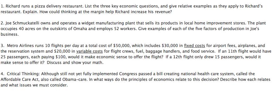 five factors of production in economics