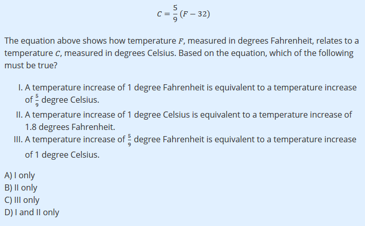 solved 5 c32 the equation above shows how temperature f
