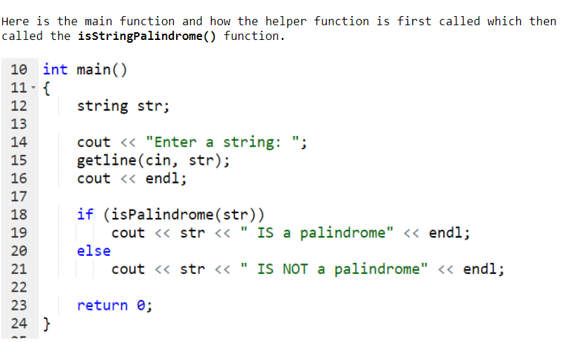 Solved: A Palindrome Is A String That Reads The Same Forwa