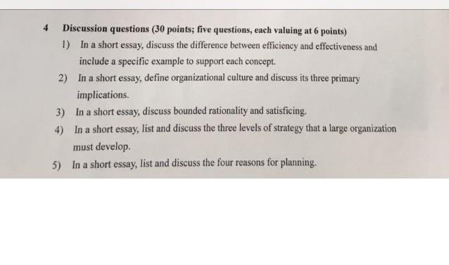 short essay format