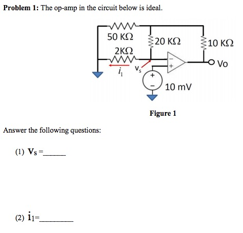 Solved: Problem 1: The Op-amp In The Circuit Below Is Idea