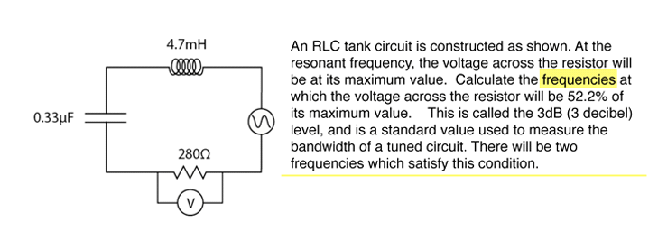 hertz and resonant circuit Rlc series circuit the rlc series circuit is a very important example of a resonant circuitit has a minimum of impedance z=r at the resonant frequency, and the phase angle is equal to zero.