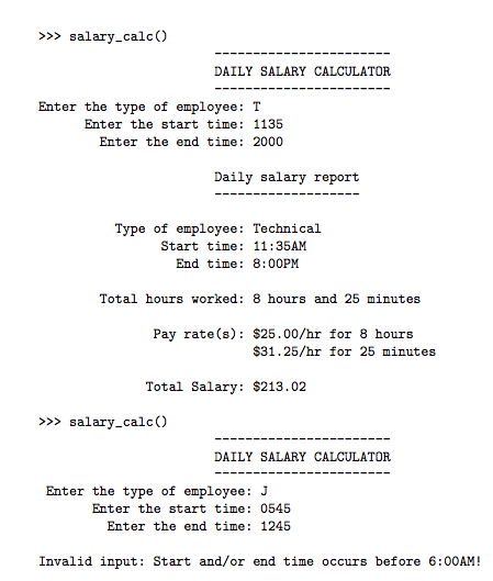 Solved: Program In Python: Salary Calculator  In This Prob