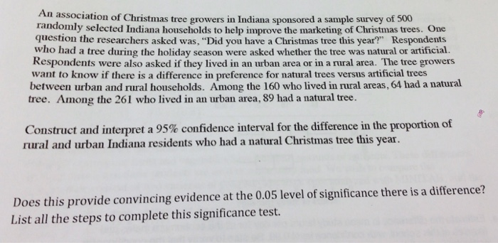 Solved An Association Of Christmas Tree Growers In Indian