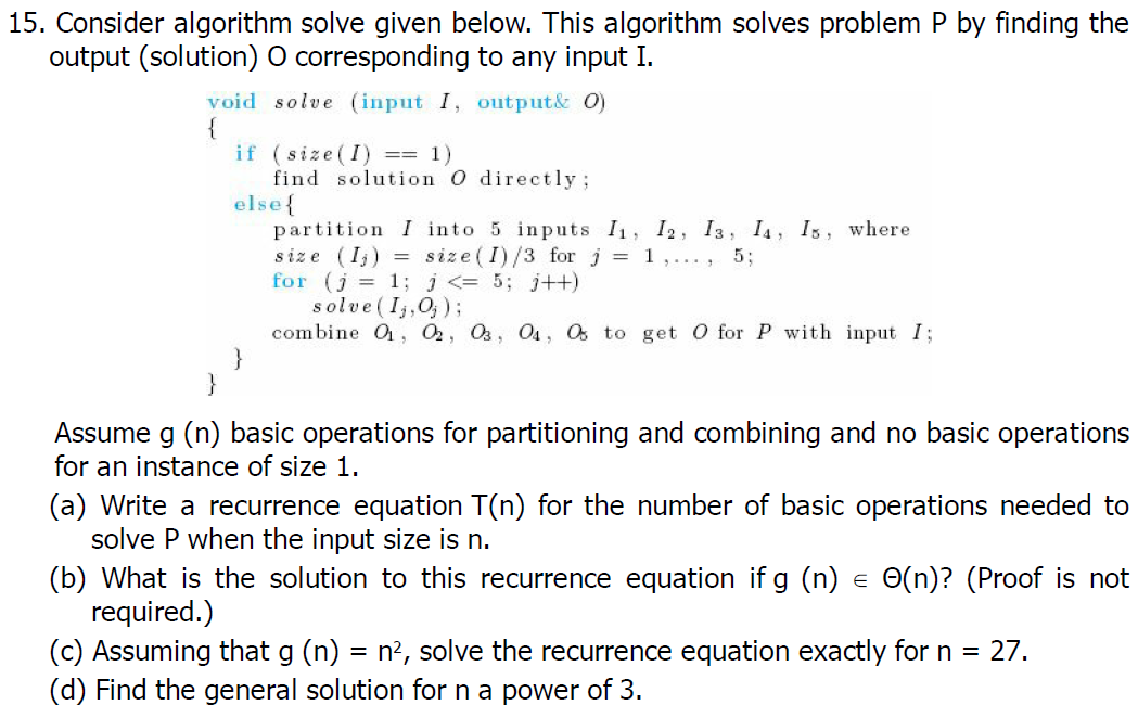 algorithm problems and solutions pdf