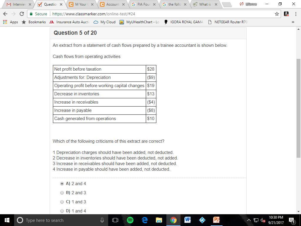 Solved: ← Secure L Https://www classmarker com/online-test