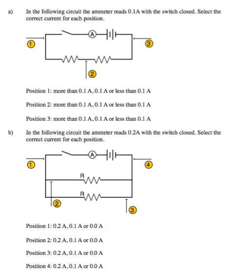 solved in the following circuit the ammeter reads 0 1 a w rh chegg com