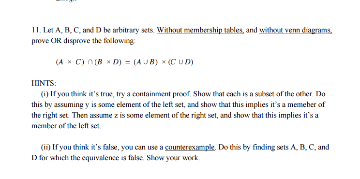 Solved let a b c and d be arbitrary sets without memb image for let a b c and d be arbitrary sets without ccuart Images