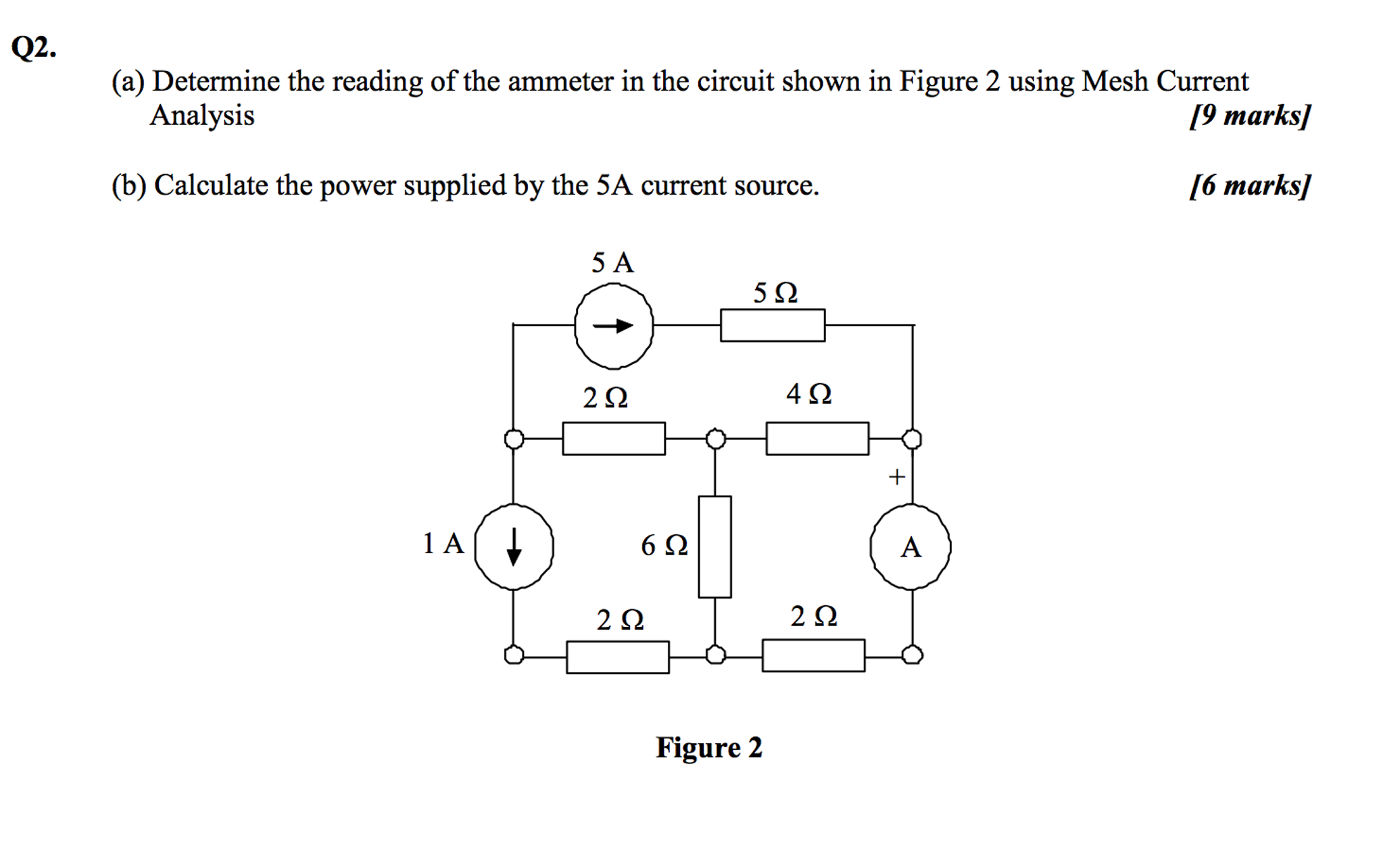 Solved Determine The Reading Of Ammeter In Circui Circuit Diagram With