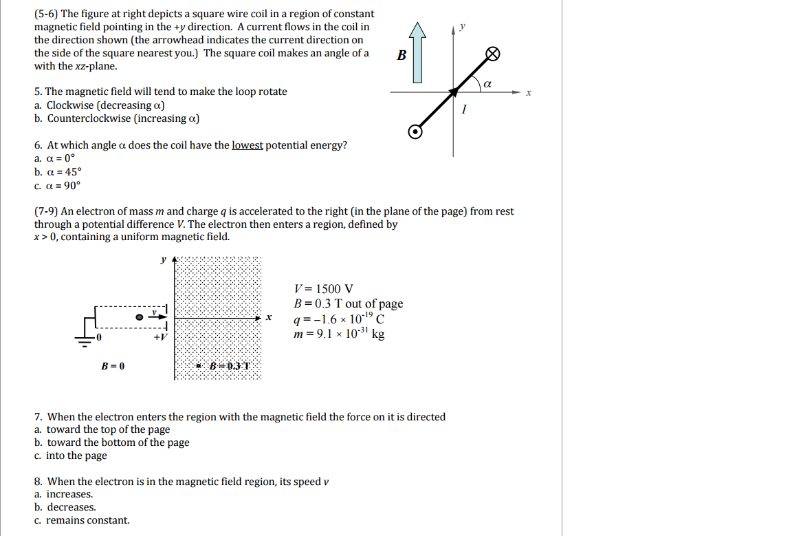 Solved: (5-6) The Figure At Right Depicts A Square Wire Co ...