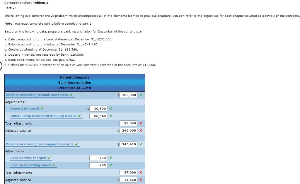 solved comprehensive problem 3 part 1 selected transacti