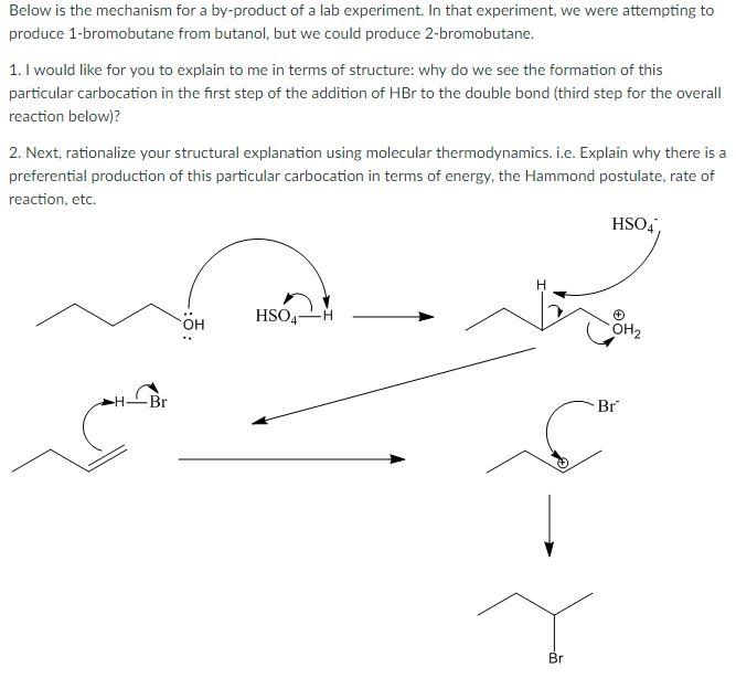 1 butanol to 1 bromobutane