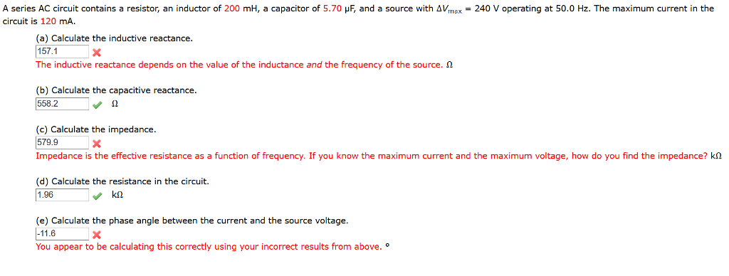 solved a series ac circuit contains a resistor, an induct rc series circuit solved an ac source powers a circuit