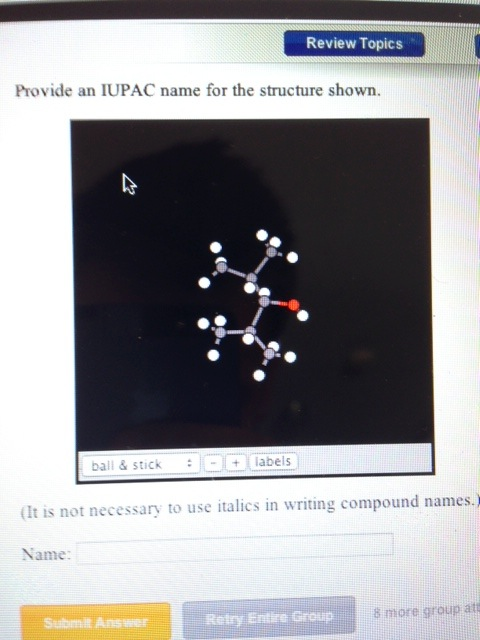 Solved: Provide An IUPAC Name For The Structure Shown  (It