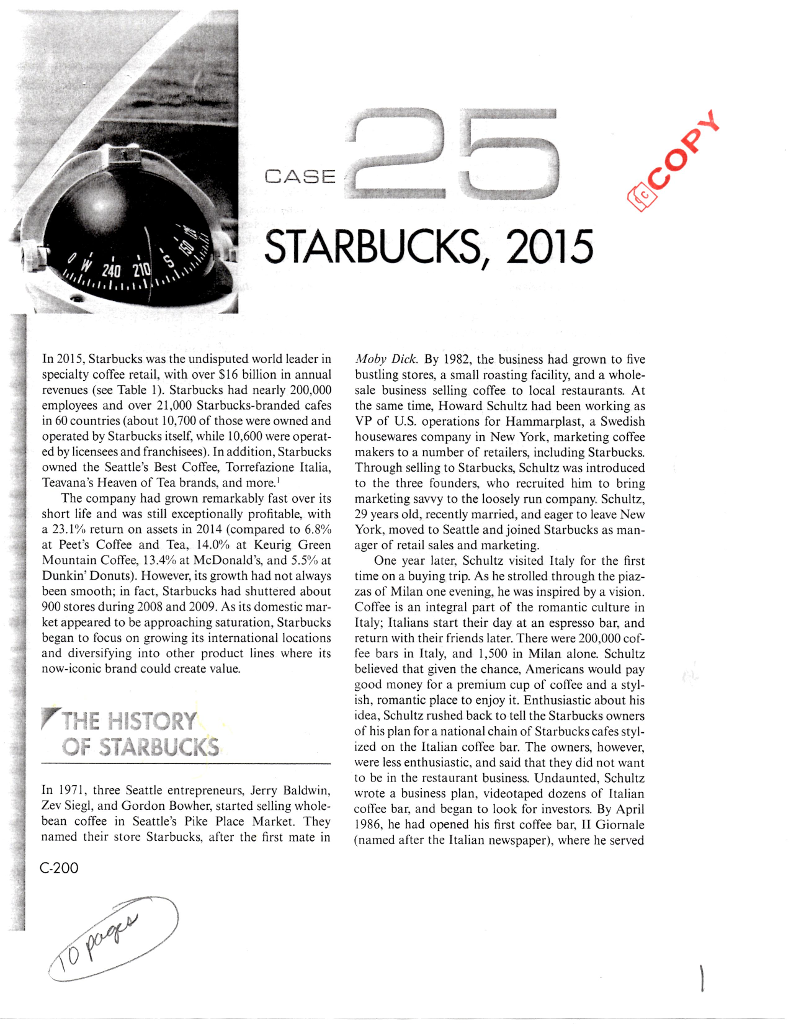 solved b provide a history development and growth of s rh chegg com Starbucks Barista Training Manual Starbucks Policy Manual