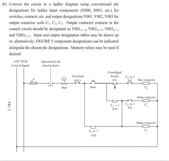 Plc circuit ladder diagram wiring diagram solved convert the circuit to a ladder diagram using conv basic plc diagram plc circuit ladder diagram asfbconference2016 Choice Image