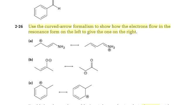 Question Use The Curved Arrow Formalism To Show How Electrons Flow In Resonance Form On Left T