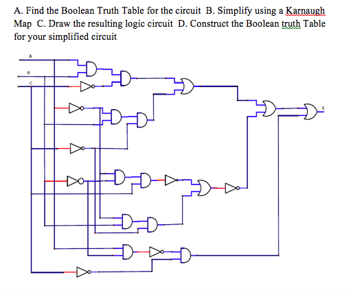 solved a find the boolean truth table for the circuit b rh chegg com Karnaugh Map Tutorial 3 Variable Karnaugh Map