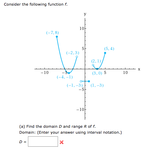 how to write an answer using interval notation
