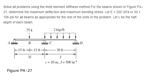 Solved: Please Solve Problem 4-27 Under The First Course I