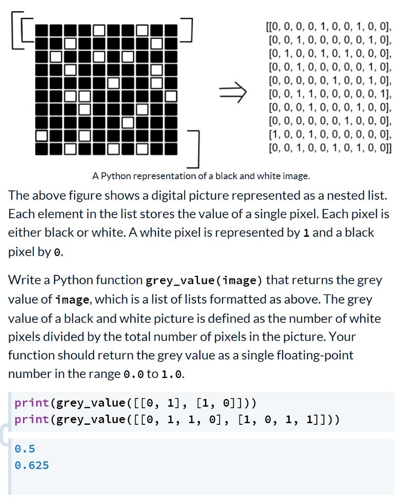 Solved: [0, 0, 0, 0, 0, 0,1, 0, 0, 0], A Python Representa