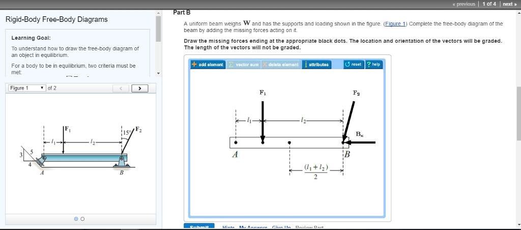 solved to understand how to draw the free body diagram of rh chegg com draw the free-body diagram for the beam. a is a rocker and b is a pin draw free body diagram online