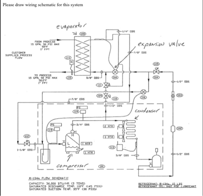 Please Draw Wiring Schematic For This System FROM ... | Chegg.com