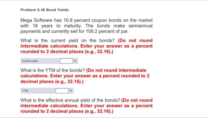 Finance archive january 22 2017 chegg problem 5 16 bond yields mega software has 108 pe fandeluxe Images