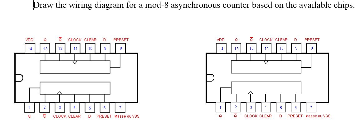 draw the wiring diagram for a mod 8 asynchronous chegg com rh chegg com wiring diagram for intertherm s3qa-048ka wiring diagram for interlock device