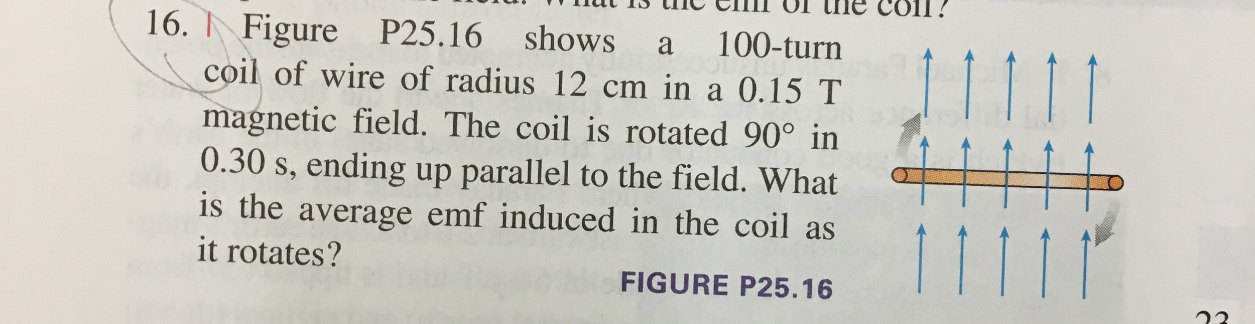 Solved: Figure P25.16 Shows A 100-tum Coil Of Wire Of Radi ...