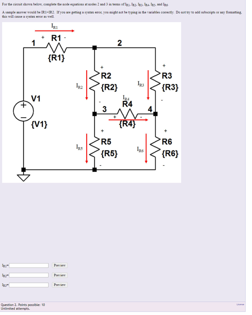 Electrical engineering archive march 06 2018 chegg for the circuit shown below complete the node equations at nodes 2 and 3 in falaconquin