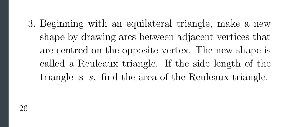 Solved: 3  Beginning With An Equilateral Triangle, Make A