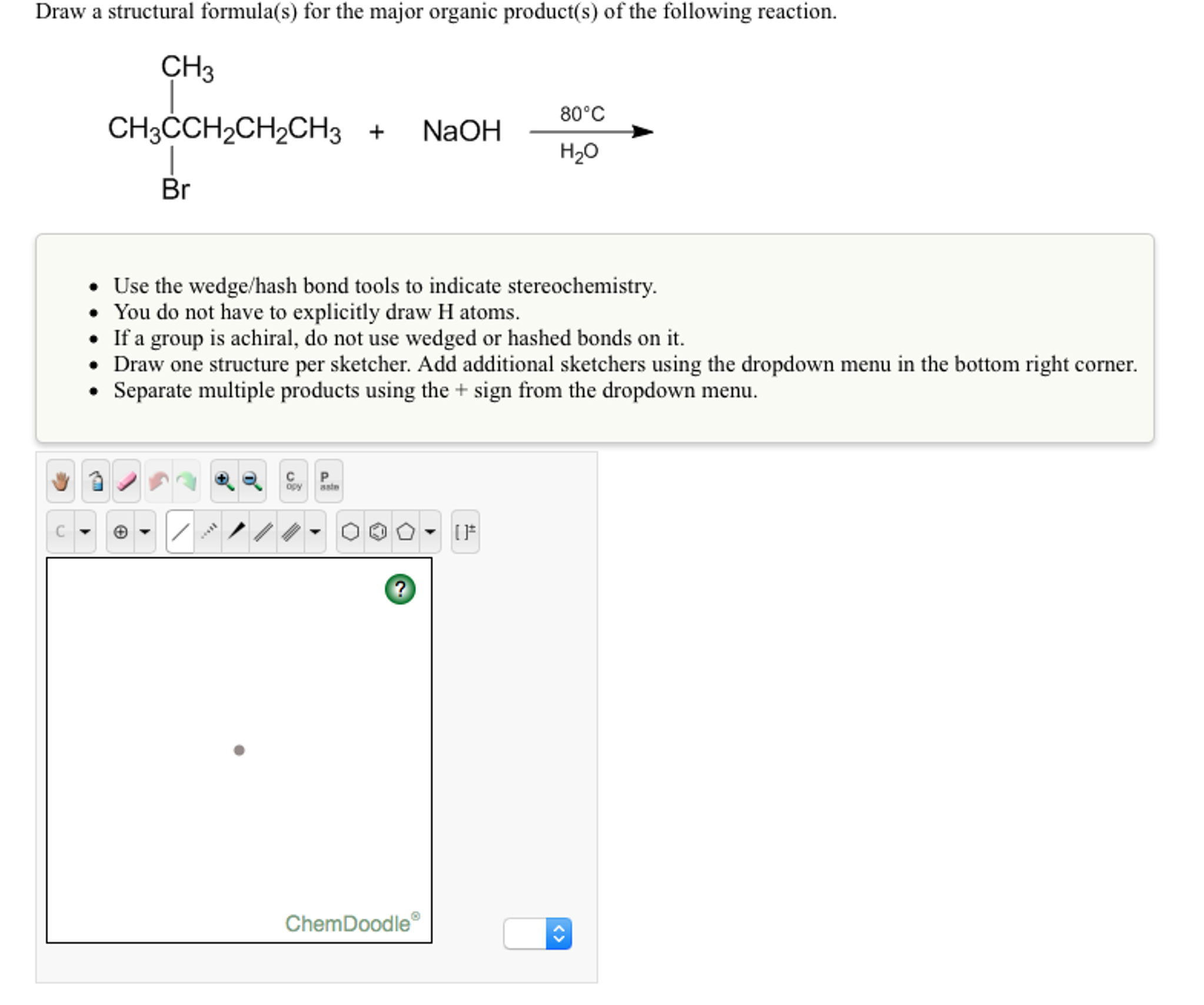 how to draw a condensed structural formula