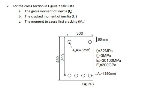 Solved: 2  For The Cross Section In Figure 2 Calculate A