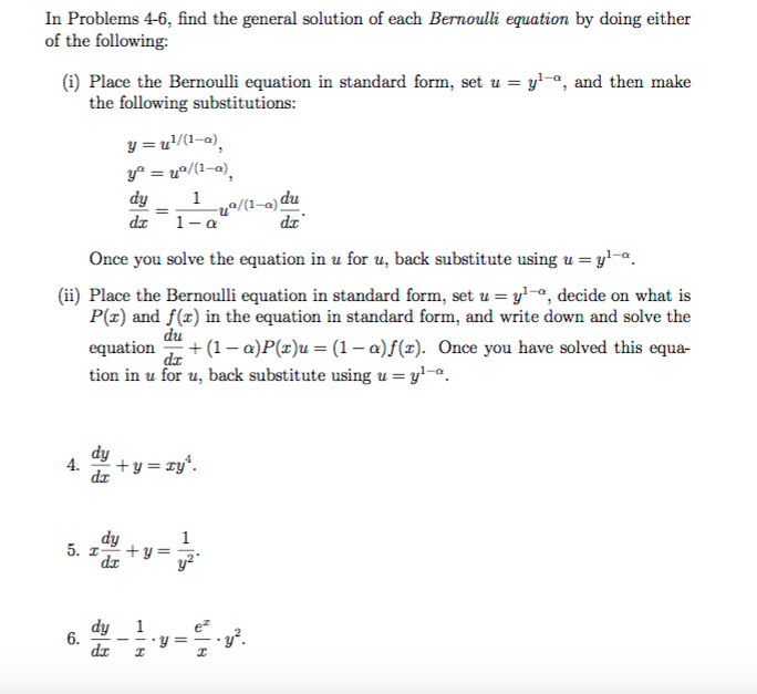 Solved In Problems 4 6 Find The General Solution Of Each