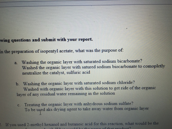 preparation of isopentyl acetate essay example