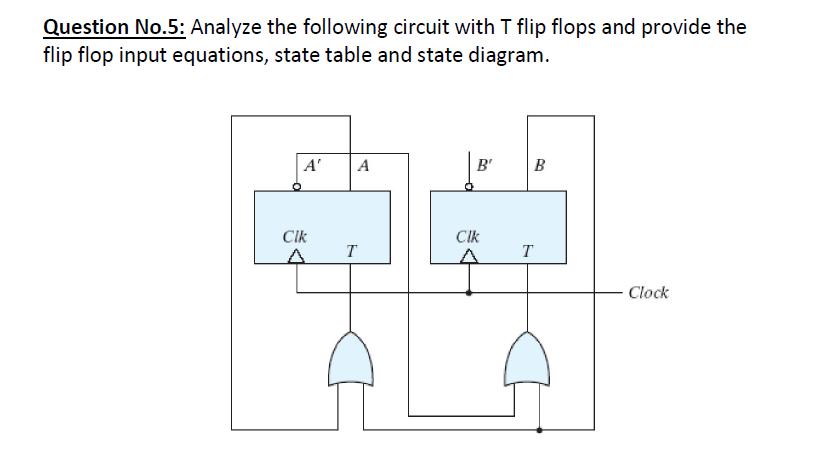 [ZSVE_7041]  Solved: Analyze The Following Circuit With T Flip Flops An...   Chegg.com   T Flip Flop Logic Diagram      Chegg