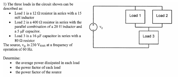 solved the three loads in the circuit shown can be descri rh chegg com Swich Circuit Load Cell Circuit